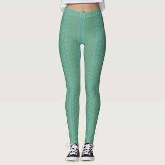 Extropix Green Waves Leggings