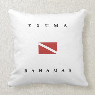 Exuma Bahamas Scuba Dive Flag Throw Pillow