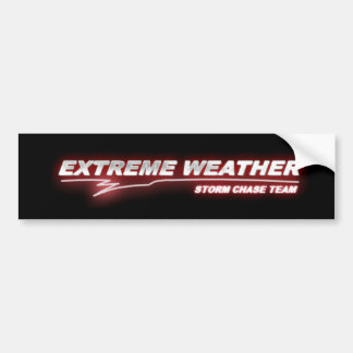 EXWX red glow bumper sticker