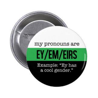 Ey/Em Pronouns –Neutrois Flag 6 Cm Round Badge
