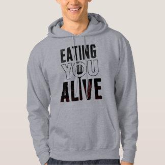 EYA logo - Hooded Sweatshirt grey