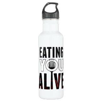 EYA logo - water bottle (24 oz), White