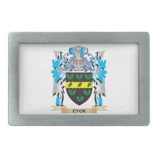 Eyck Coat of Arms - Family Crest Belt Buckles