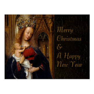 Eyck Madonna in Church CC0297 Christmas Postcard