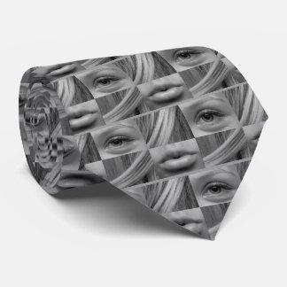 eye-537597 GRAY WHITE FASHION WOMAN EYES LIPS HAIR Tie