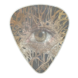 Eye Abstract Art Pearl Celluloid Guitar Pick