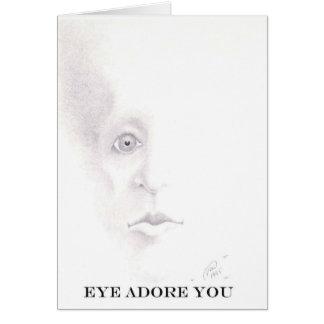 eye adore you greeting card