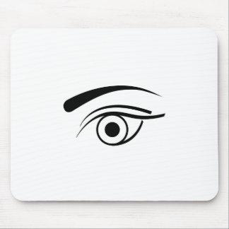 Eye and eyebrow mouse pad