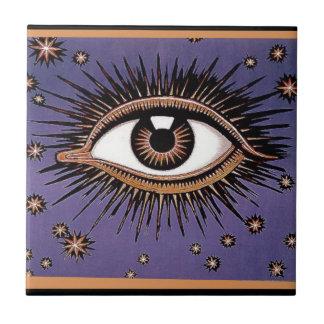 Eye and Stars Ceramic Tile