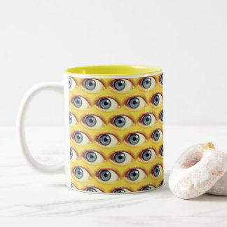 Eye Ballin' it Two-Tone Coffee Mug