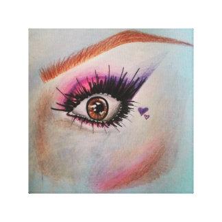 Eye, brows, makeup canvas print