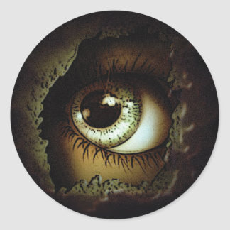 Eye Can See You Round Sticker