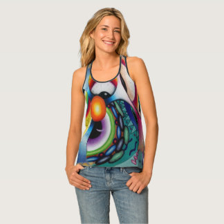 """Eye Candy"" All-Over Print Racerback Tank"