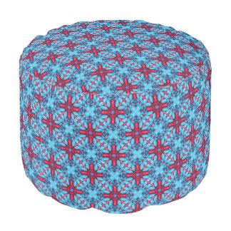 Eye Candy Kaleidoscope Round Pouf