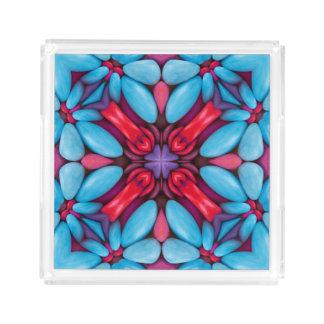 Eye Candy Pattern  Acrylic Trays, 2 shapes 4 sizes