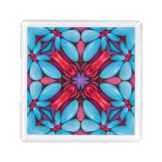 Eye Candy Pattern  Acrylic Trays, 2 shapes 4 sizes Acrylic Tray
