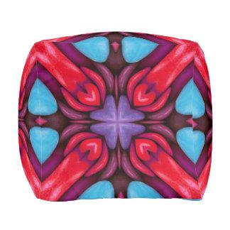 Eye Candy Pattern Pouf Cube, 2 sizes