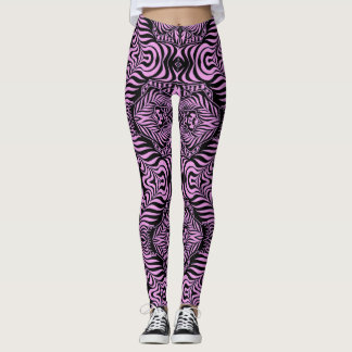 Eye Candy pink and black leggings