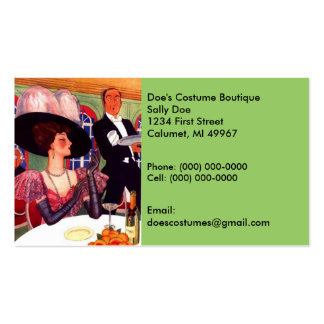 Eye-candy Vintage Fashions Costumes Business Card