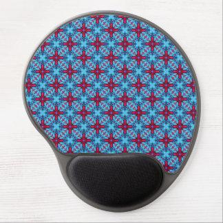 Eye Candy Vintage Kaleidoscope  Blue Gel Mousepad