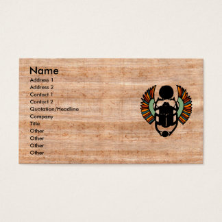Eye-catching Egyptian Papyrus Business Card