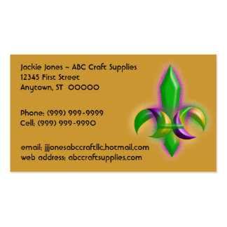 Eye-catching Glow Fleur-de-lis Business Cards Card