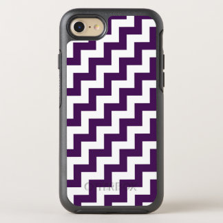 Eye-catching Purple and White Diagonal Zigzags OtterBox Symmetry iPhone 8/7 Case