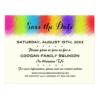 Eye Catching Reunion, Party or Event Save the Date Postcard