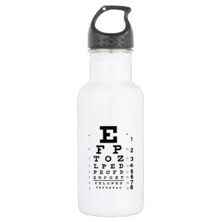 Eye Chart 16 oz. 532 Ml Water Bottle