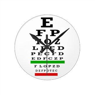 Eye Chart Clock