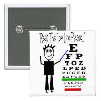 Eye Chart Eye Doctor Design Gifts 15 Cm Square Badge