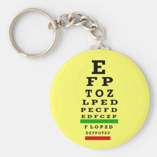 EYE CHART Gifts Key Ring