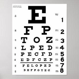 Eye chart posters photo prints zazzle au