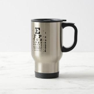 Eye Chart Stainless Steel Travel Mug