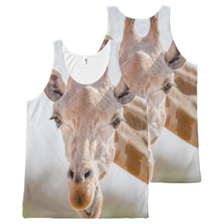 Eye contact with giraffe All-Over print singlet