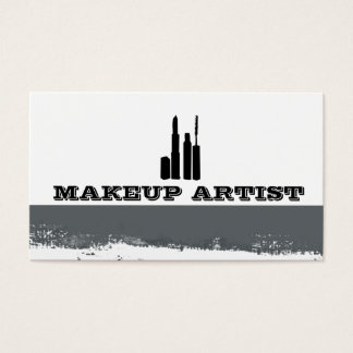 Eye Cosmetics Abstract Splatters Makeup Artist Business Card