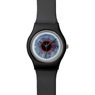 Eye Doctor Blue & Purple Eyeball Iris Black Watch