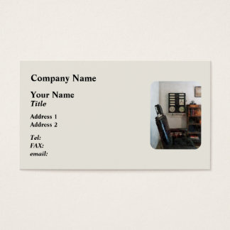 Eye Doctor's Office with Eye Chart Business Card