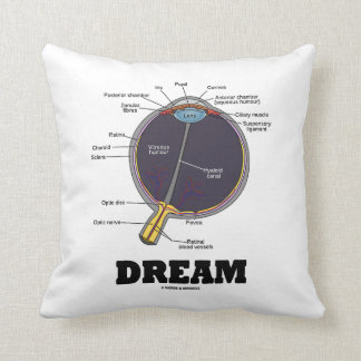 Eye Dream Anatomical Human Eyeball Humor Throw Cushions