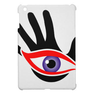 Eye emerging from a palm case for the iPad mini