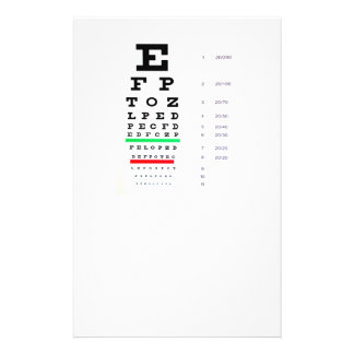 eye exam 14 cm x 21.5 cm flyer