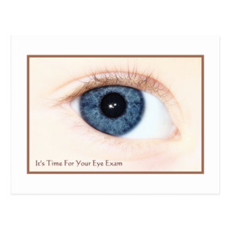 Eye Exam Appointment Reminder Baby Blue Eye Post Cards