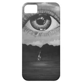 Eye. Eye eyes crying art sea sky dark monochrome c Barely There iPhone 5 Case