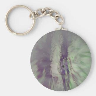 Eye Flare Basic Round Button Key Ring
