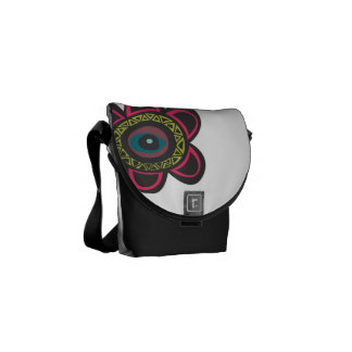 Eye Floral Vector Courier Bags