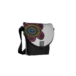 Eye Floral Vector Courier Bag