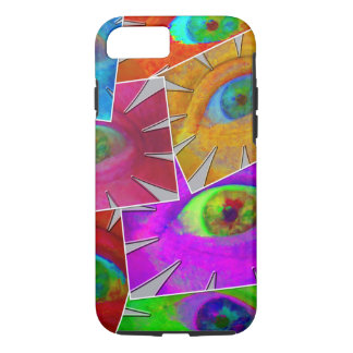 Eye Flowers Collage iPhone 8/7 Case