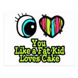 Eye Heart I Love You Like a Fat Kid Loves Cake