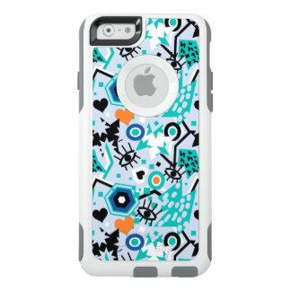 Eye heart pop art cool bright blue  pattern OtterBox iPhone 6/6s case