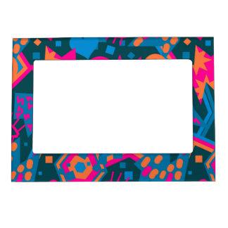 Eye heart pop art cool bright pink  pattern magnetic frame